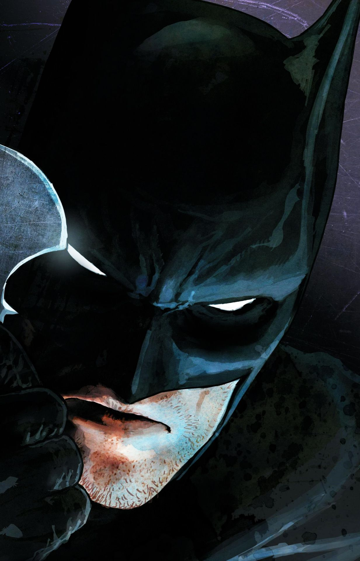 Black, batman, superhero, logo, abstract, apple, wallpaper