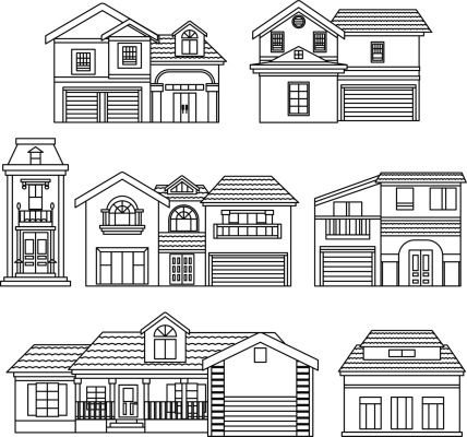 Vector House Elements Clip Art