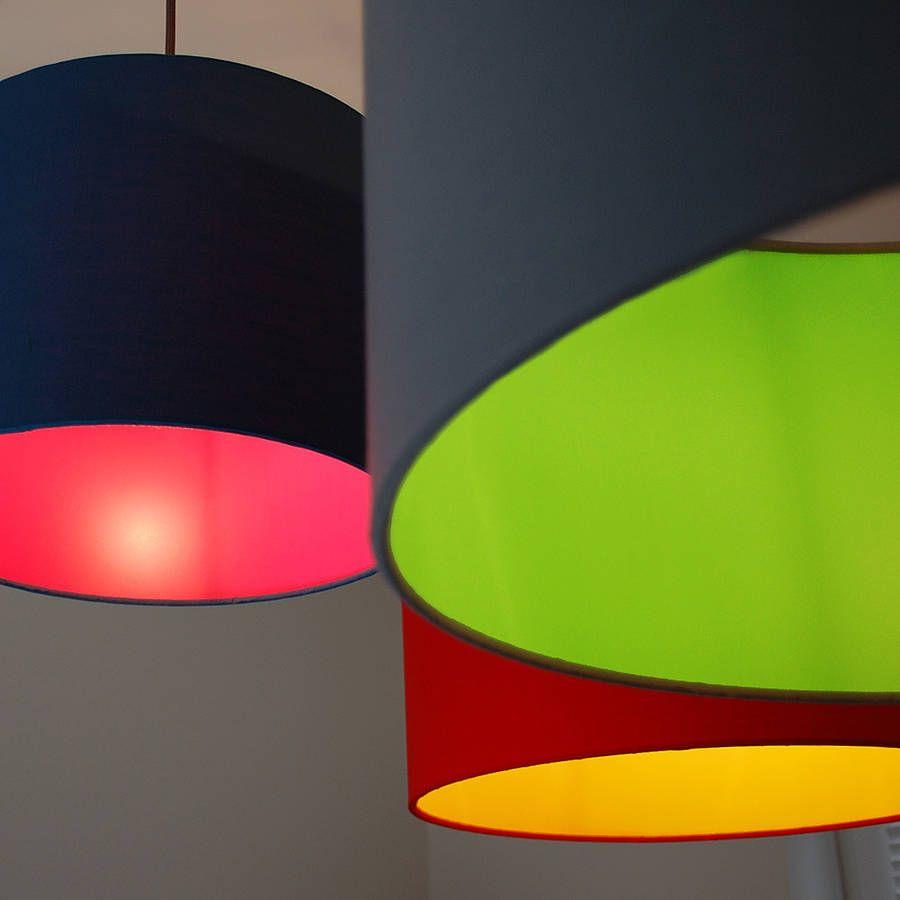 coloured lampshade lining. | Lampshades | Pinterest | Black lamp ...