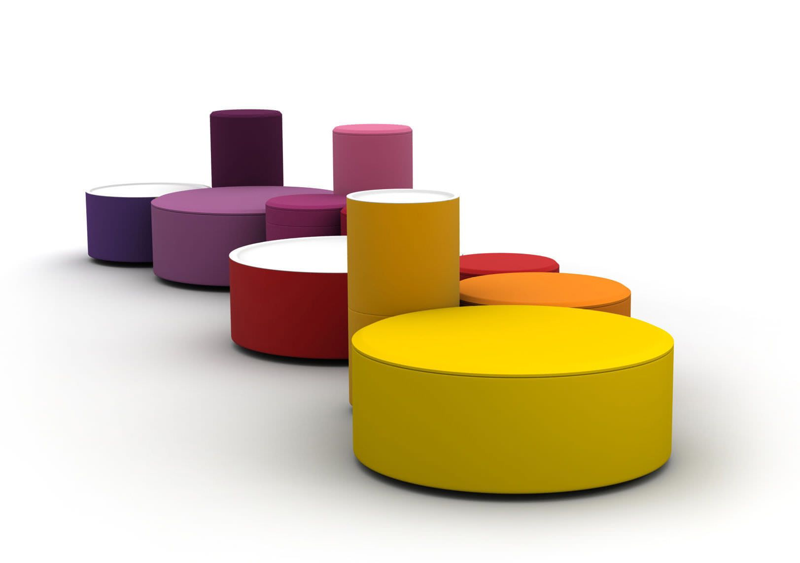 pop art design pouf / textile / modular / upholstered