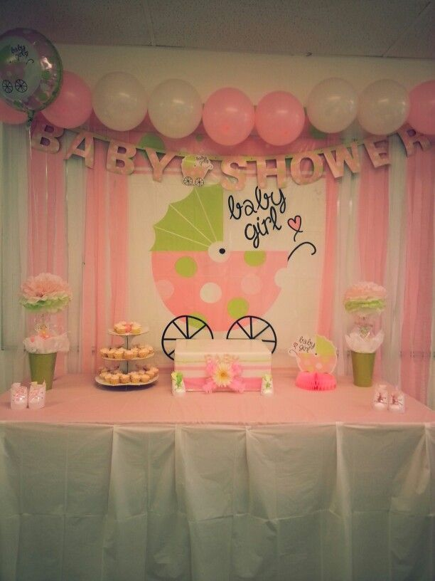 Dollar store baby shower decoration diy cool ideas for Baby shower decoration ideas for girl
