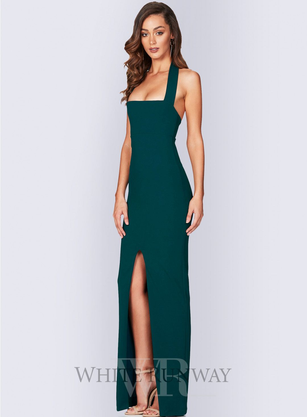 9a028ca5618f Boulevard Gown. A gorgeous full length bodycon dress by Nookie. A classic  halter style with a full length skirt and split up the centre front.