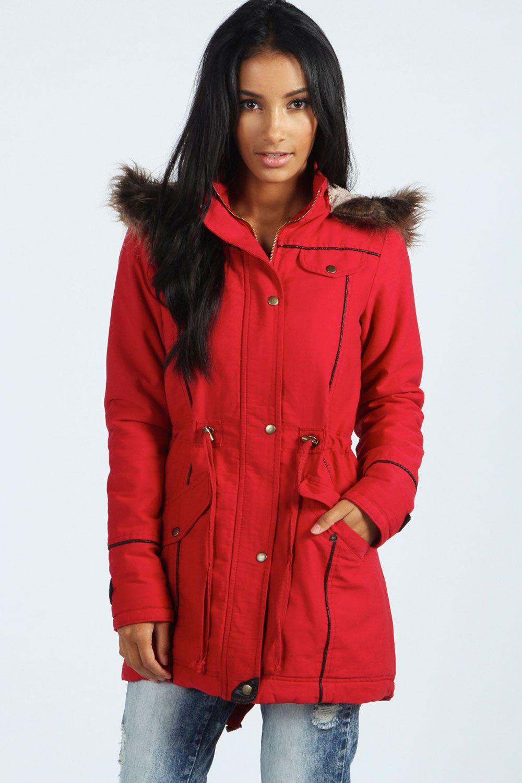 Red Parka Jacket Womens - JacketIn