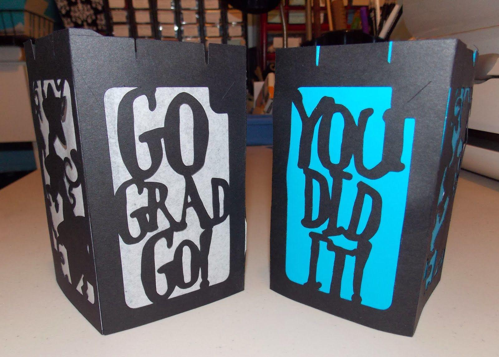 Graduation Luminaries... using Cricut \'Happy Graduation\' cartridge ...