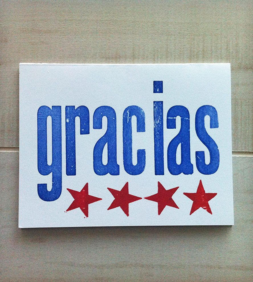 Thank you card in spanish. Gracias Card Combo by Viva Greetings