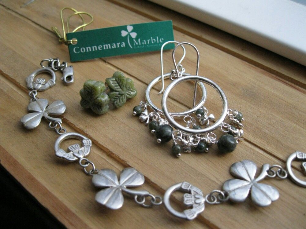 Connemara marble and irish silver collection ~ callitellies.etsy.com