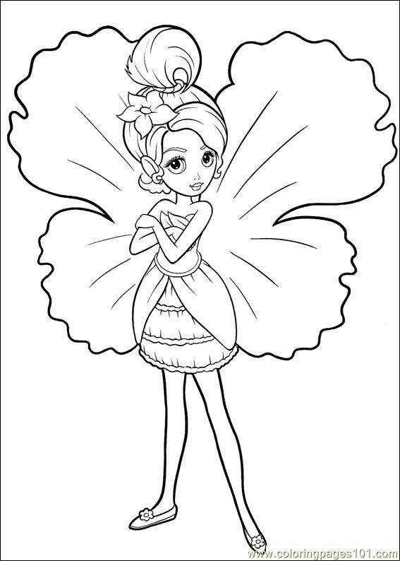 Free Online Coloring Pages Of Barbie 1