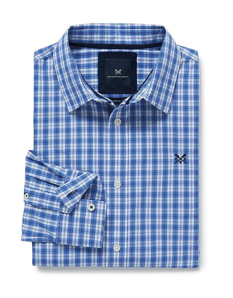 577b7b4a656 Men's Cropston Classic Fit Shirt in Amparo Blue from Crew Clothing ...