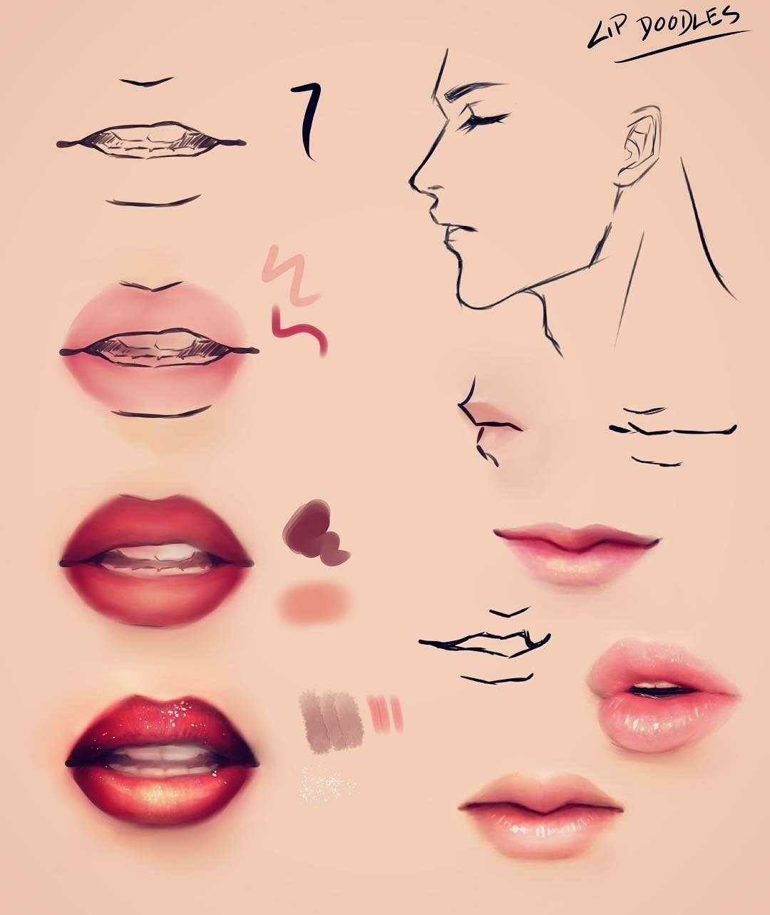 Pin by alanna budris on references lips drawing digital