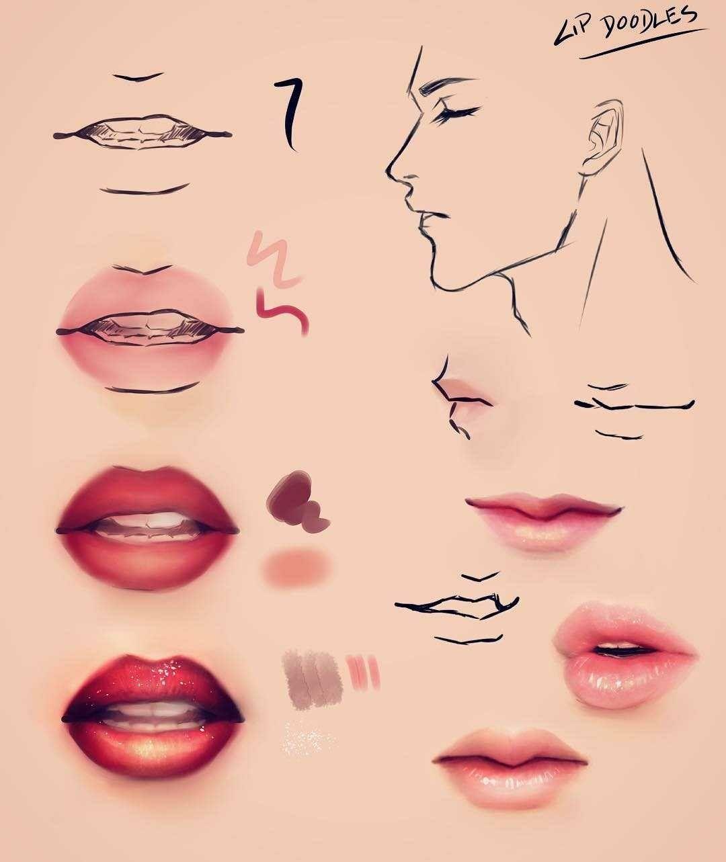 Lips Mouth Lips Drawing Digital Art Tutorial Digital Painting Tutorials