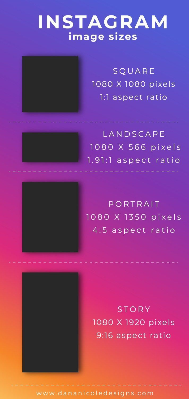 2019 Instagram image size guide #instagramtips #instagram #socialmedia