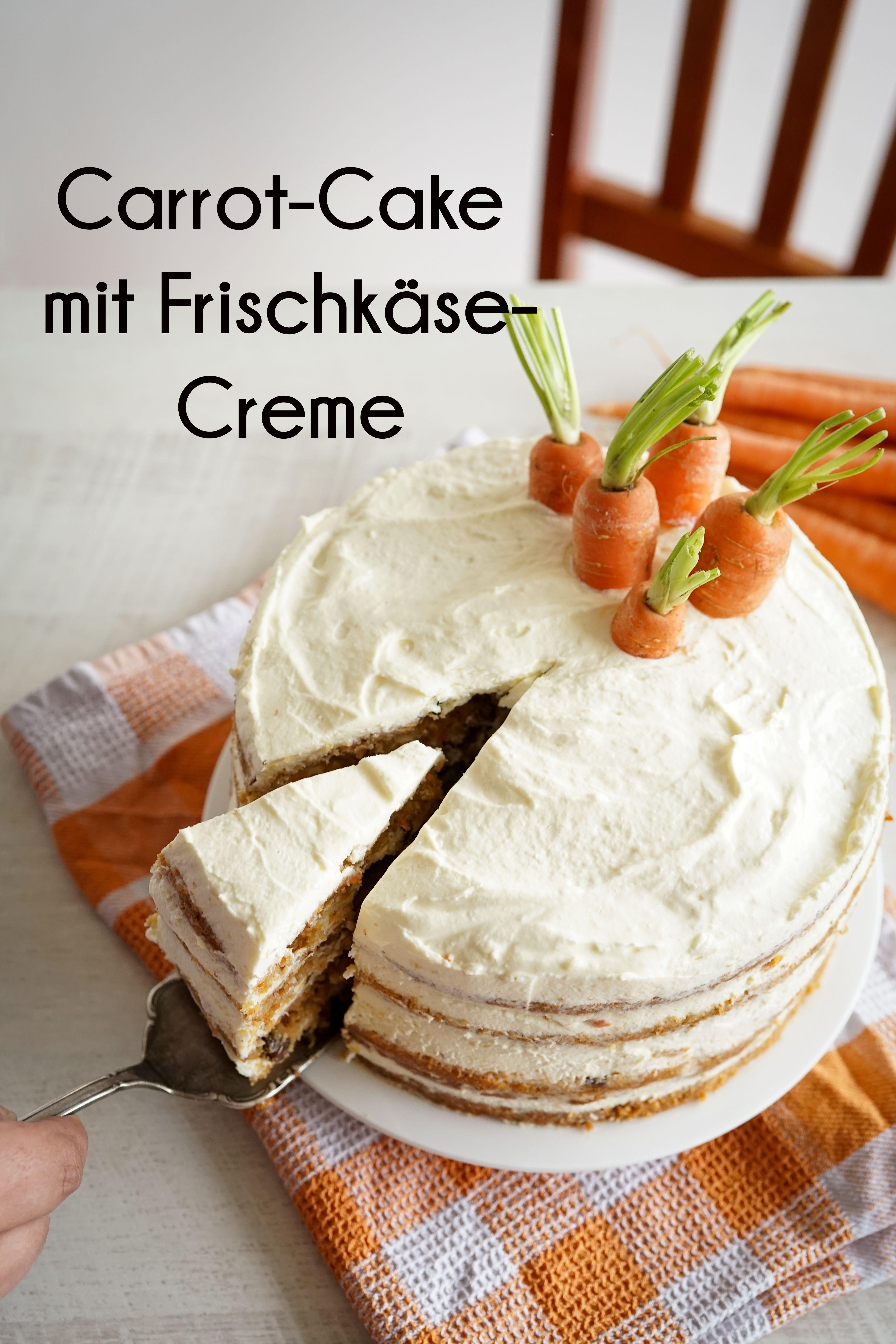 Amerikanischer Carrot Cake Mit Frischkase Creme Recipe In 2020