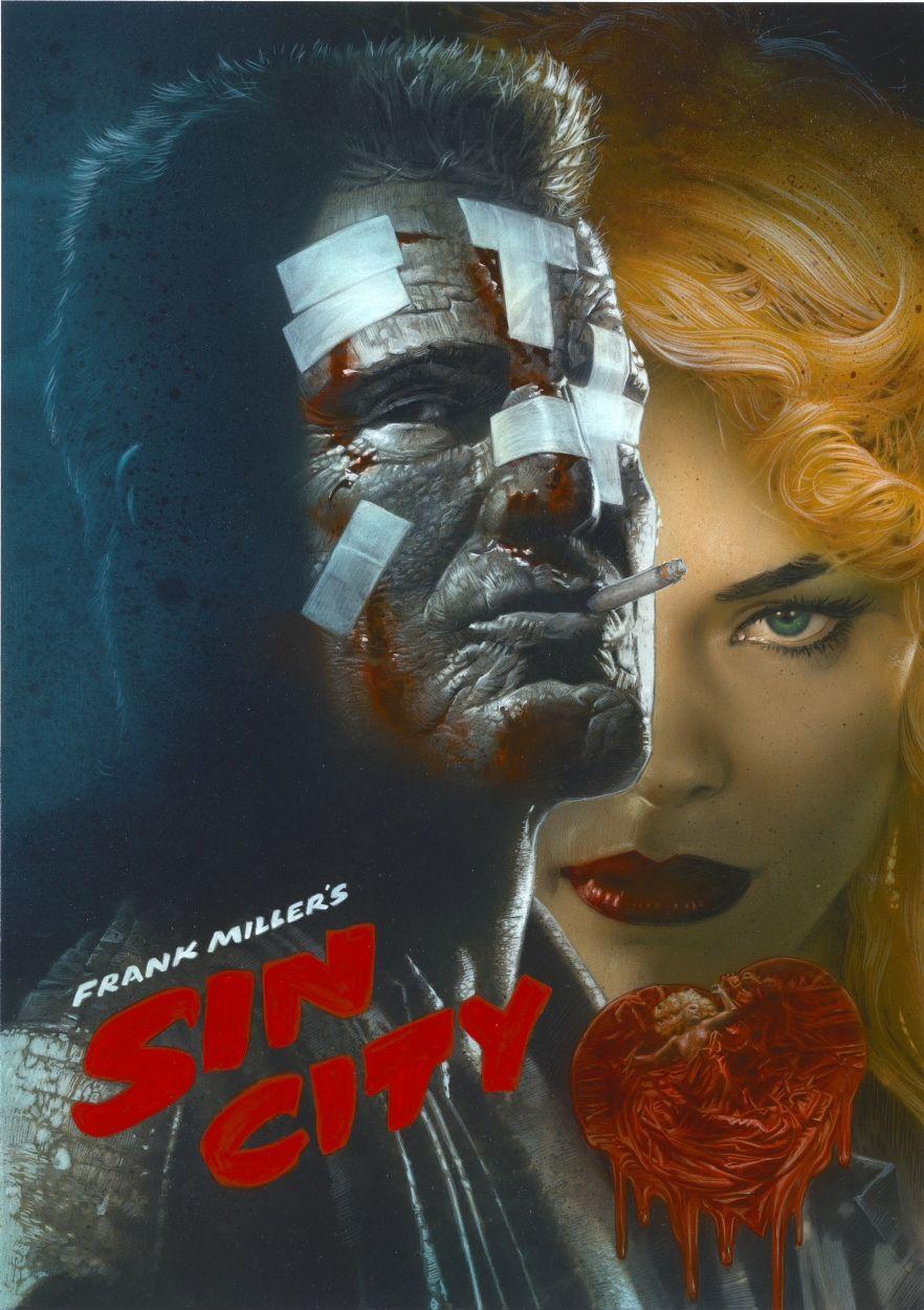 Sin City Movie Poster Greg Staples Movie Art Sin City Movie