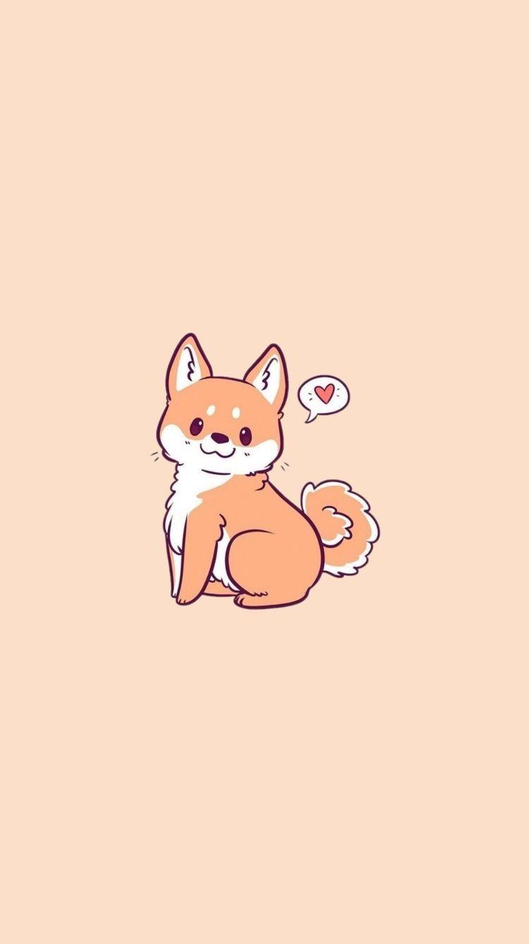 Pin By Kot Jul On Mixed Wallpaper Cute Cartoon Wallpapers Cute Dog Drawing Cute Dog Wallpaper