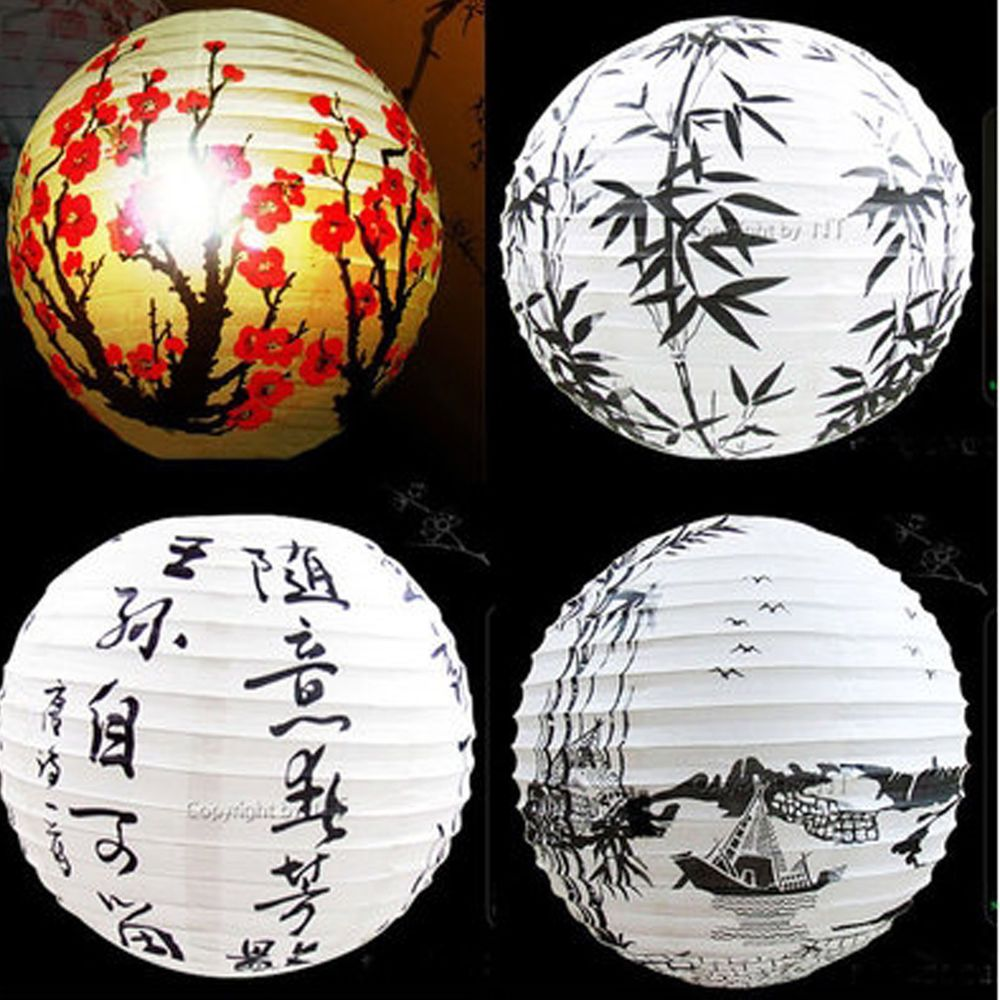 13 Lamp Shade Paper Lantern Oriental Style Light Decoration