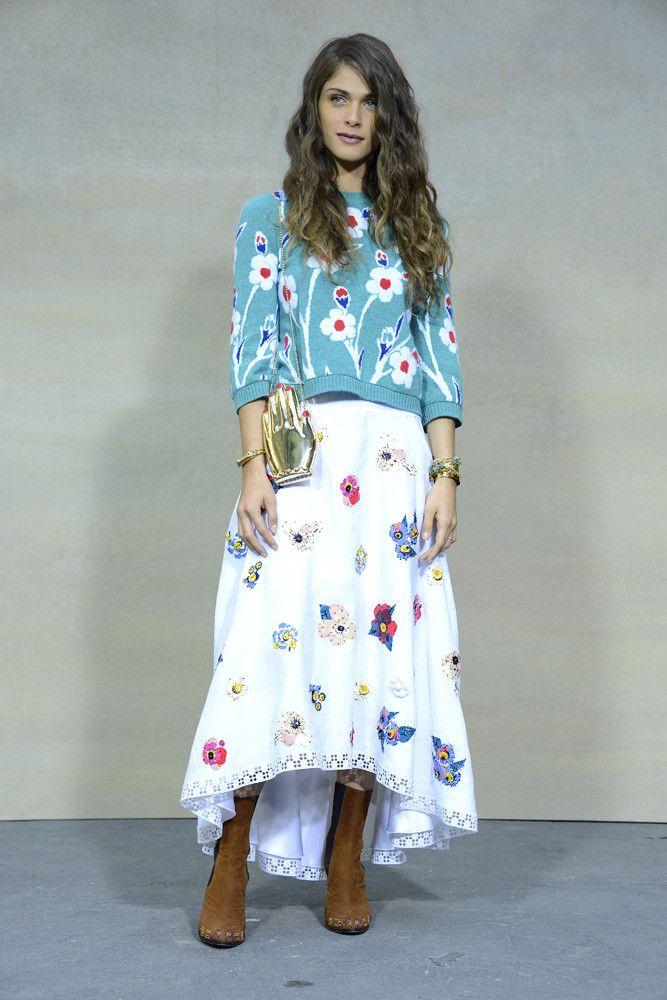 chanel-desfile-2014 | Midi skirt, Fashion, Floral skirt