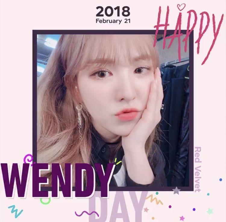 Hbd Wendy Wendy Happy Birthday Hbd Redvelvet