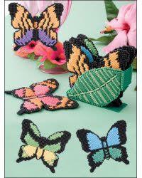 """Rain Forest Coasters"" | Plastic Canvas Pattern"