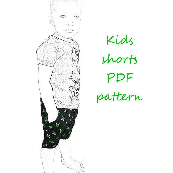 Kids shorts pattern pdf, boys shorts pattern, kids sewing pattern ...