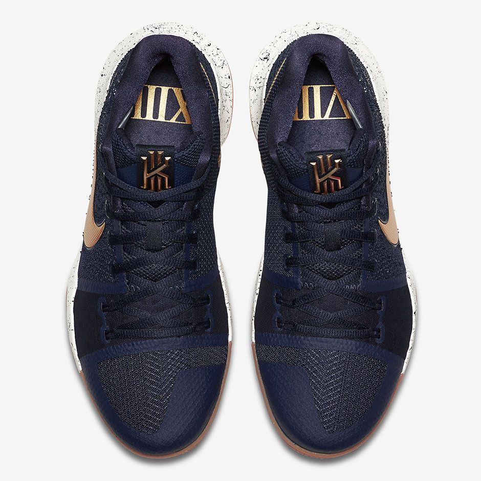 sale retailer 09340 cf439 Perhaps anticipating some new golden hardware for Kyrie Irving and the  Cavaliers this summer, the Nike Kyrie 3 is soon dropping in a new navy  colorway with ...
