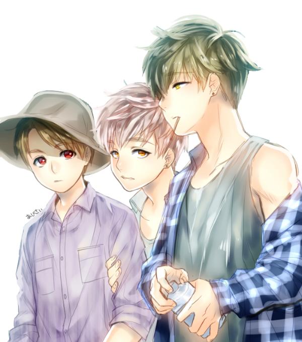 Bts anime v jimin jungkook Kpop Fanart Pinterest