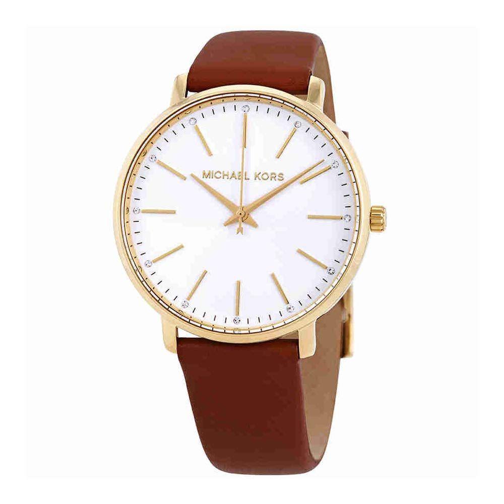 Michael Kors Damen Analog Quarz Uhr Mit Leder Armband Mk2740 116 00 5 0 Von 5 Sternen Damen Uhren 2019 Armband Leder Damenuhren Michael Kors