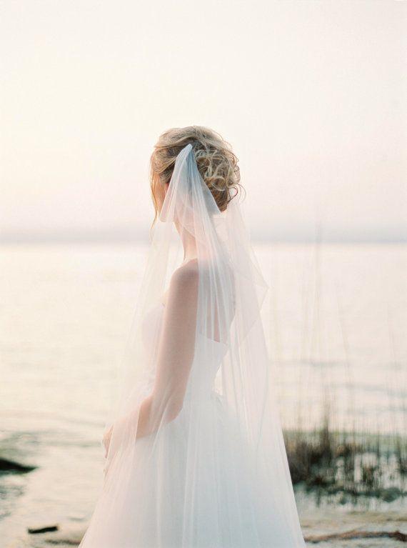 Draped Veil Wedding Veil Bridal Veil Boho Veil Swoop Veil Soft Tulle Veil Romantic Veil Beach Wedding Veil Style V44 Beach Wedding Veil Romantic Veil Drape Veil