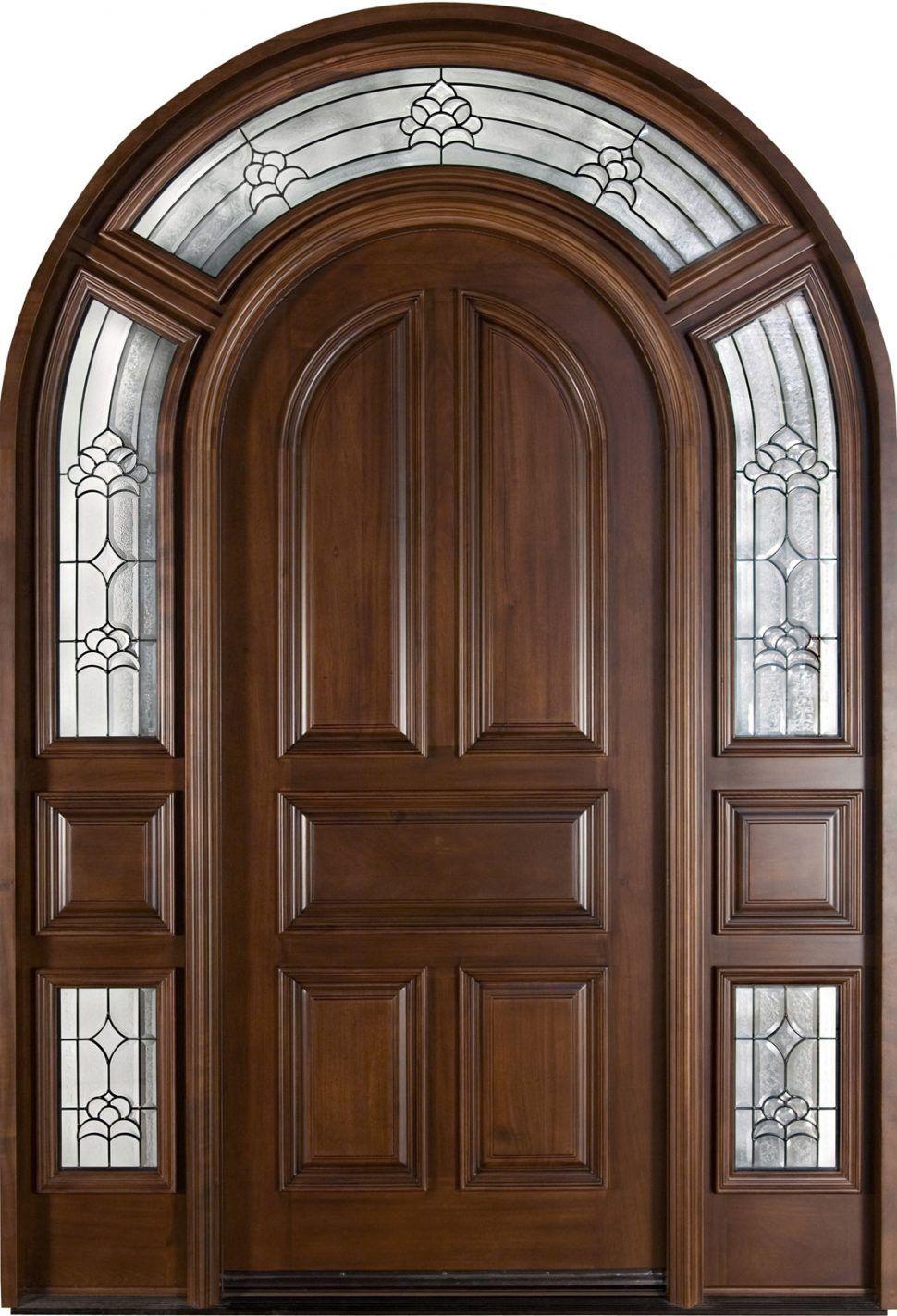 Furniture Fancy Mahogany Dark Arch Front Door Idea Inspiring Big Front Door Ideas For Your Front Entry Traditional Front Doors Wood Entry Doors Arched Doors