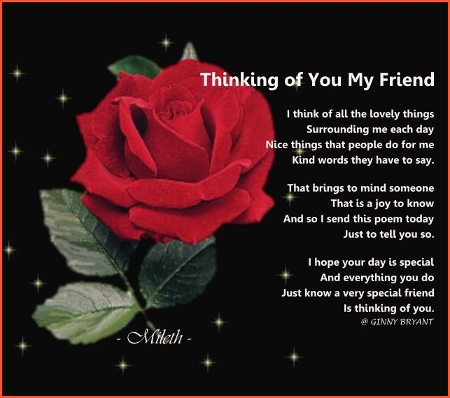 Thinking of you peoms