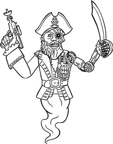 Ghost Pirate Coloring Page Halloween Ghost Coloring and Activity - new coloring pages about science