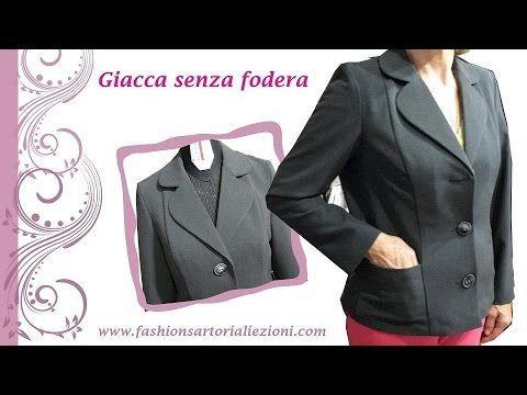 COME CUCIRE GIACCA SENZA FODERA - TUTORIAL-3 parte