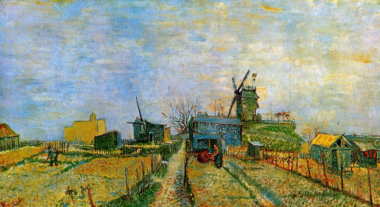 Vegetable garden art - Vincent Van Gogh Jardins Potagers Montmartre Vincent Van Gogh Art Pinterest Van Gogh And Van Gogh Art