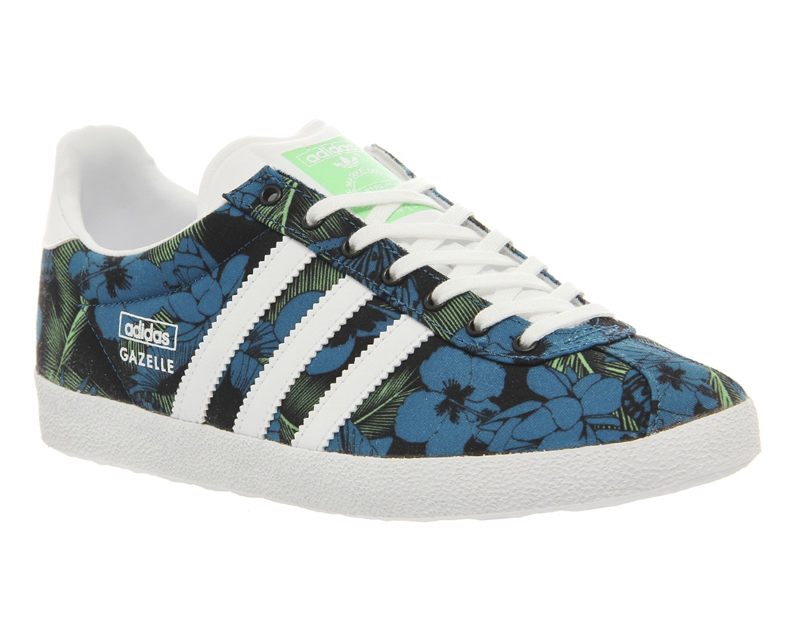 adidas gazelle black and white floral