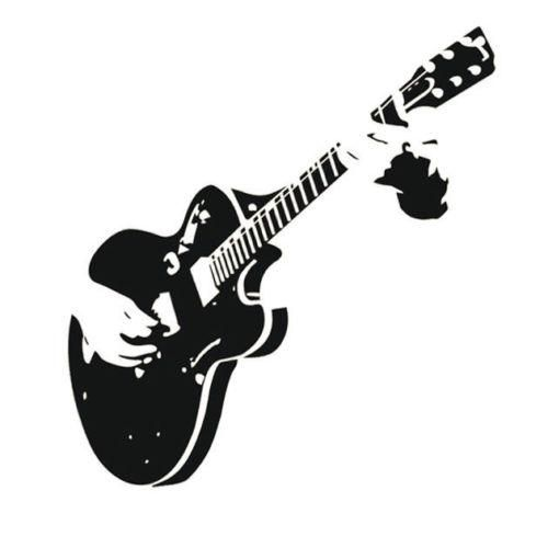 Choose From Many Styles And Sizes Of Home Plans With A: Show You Can Rock Out When You Add This Guitar Wall Mural