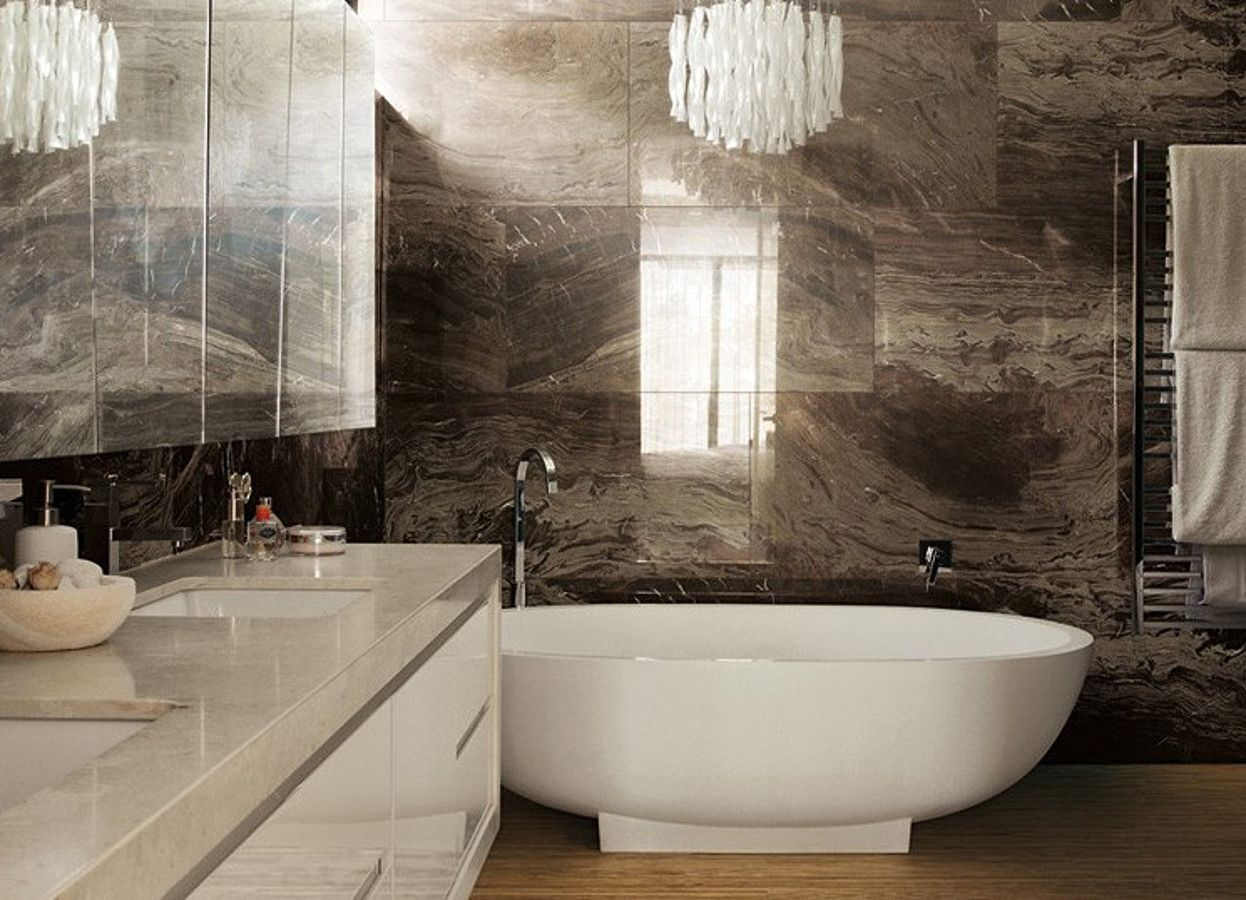 2016 design trend natural minerals brown marble bathroom tile agate lapis and quartz mineral decor for a dazzling interior