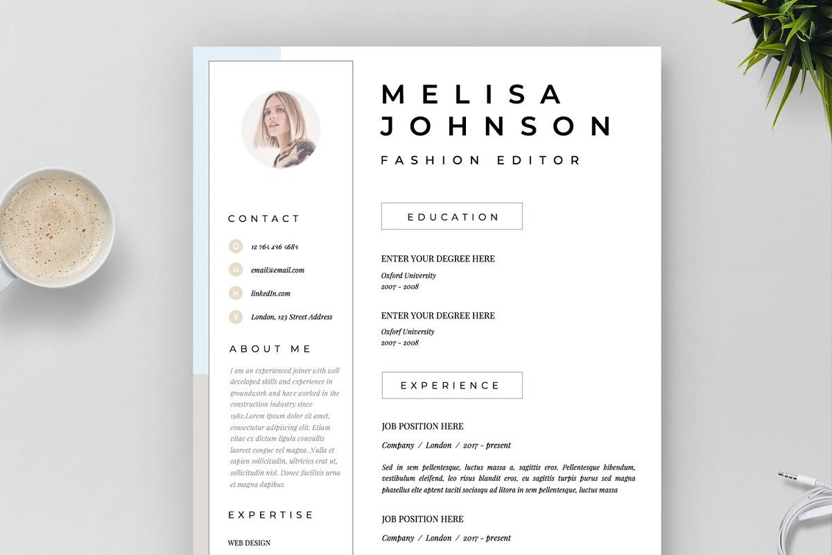 Resume Template 1 2 Page Seattle Resume Template Creative Resume Templates Modern Resume Template