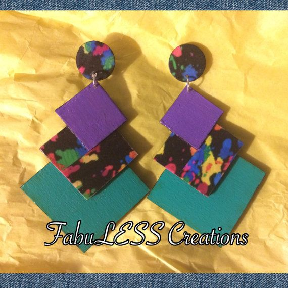 Three-Tier Dangling Earrings by FabCreationsEarcandy on Etsy