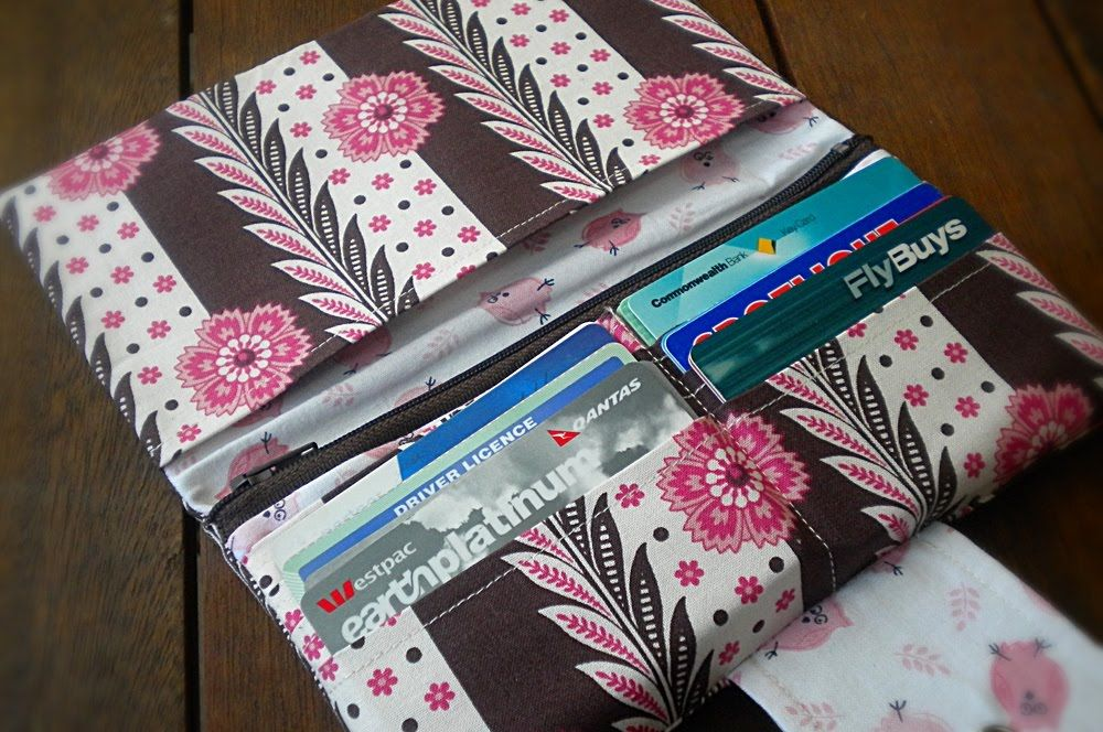 free walley patterns to sew | used my own long wallet pattern , but ...