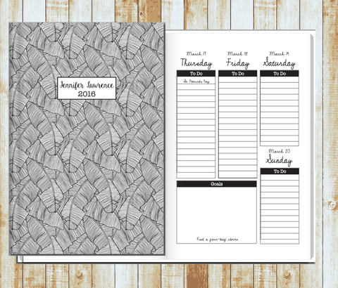 personalized weekly planners