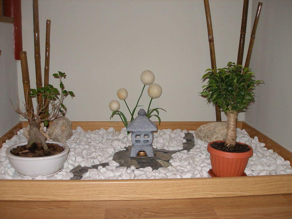 Jardin zen para interiores jardines zen pinterest for Piedras blancas para decorar