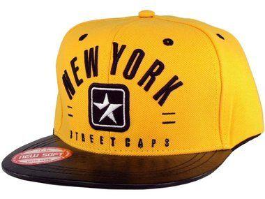 Boné New York Mant s Strapback Amarelo-Preto  4c1dbfd89e6