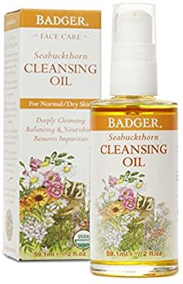 Amazon.com: Badger - Face Cleansing Oil, Seabuckthorn, Organic Face Oil Cleanser, Facial Cleanser Oil, Natural Facial Cleansing Oil, Natural Oil Cleanser for Face, Seabuckthorn Face Cleanser Oil, 2 oz: Gateway