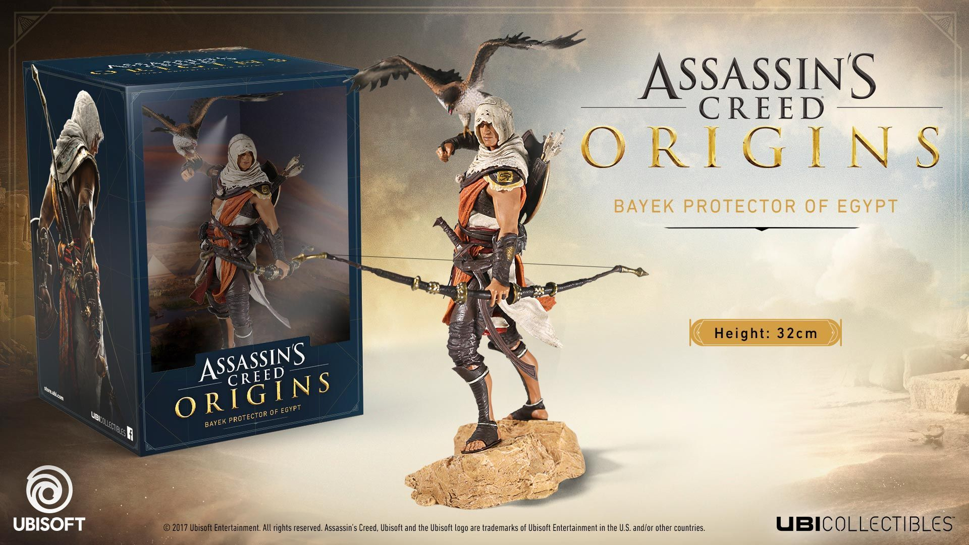 Custom LEGO minifig Assassin/'s Creed Origins Bayek with Shield and Bow