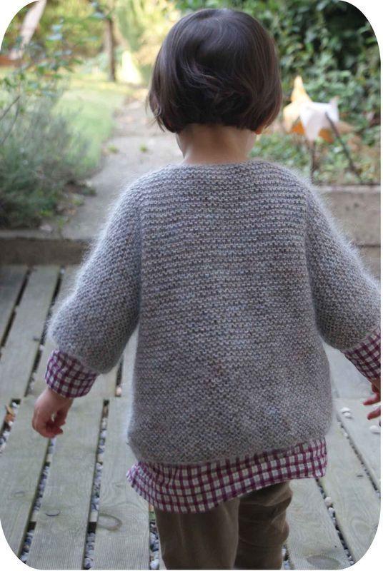 tuto tricot gilet fille 8 ans (avec images)   Tricot fillette, Tricot, Tricot gilet fille