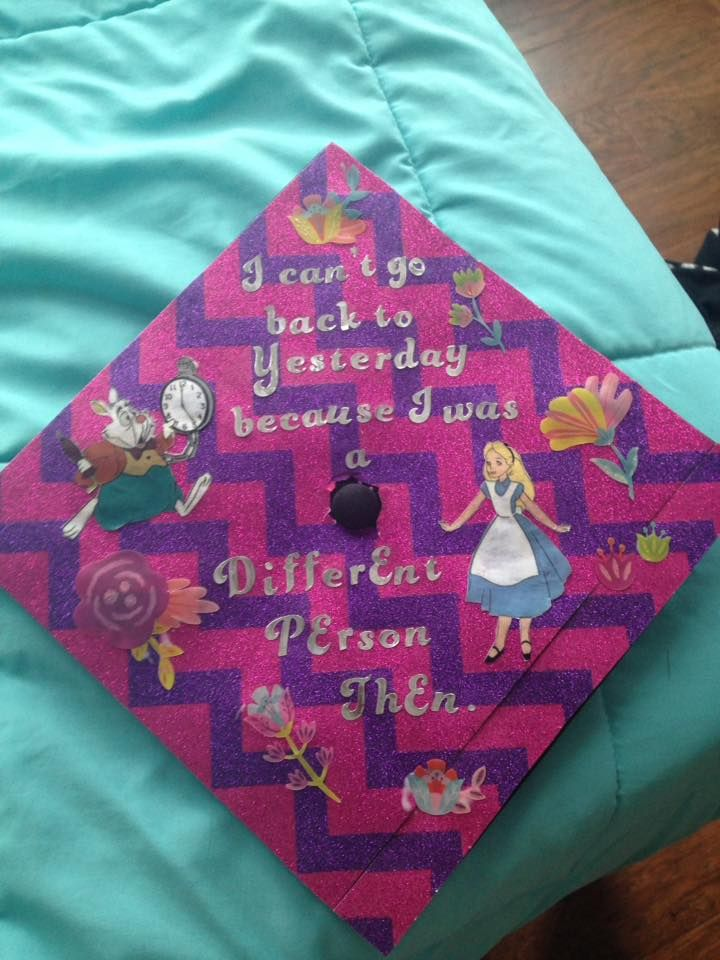 Alice In Wonderland Graduation Cap Diy Graduation Cap