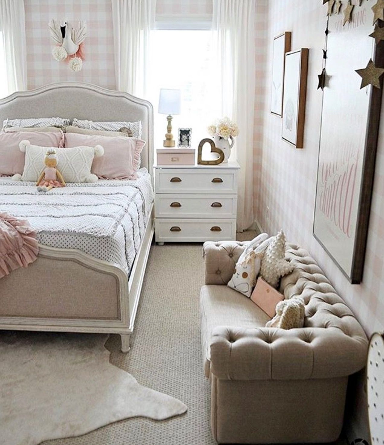 Little Couch For Bedroom Darling Little Girl S Room Bedrooms Small Room Bedroom