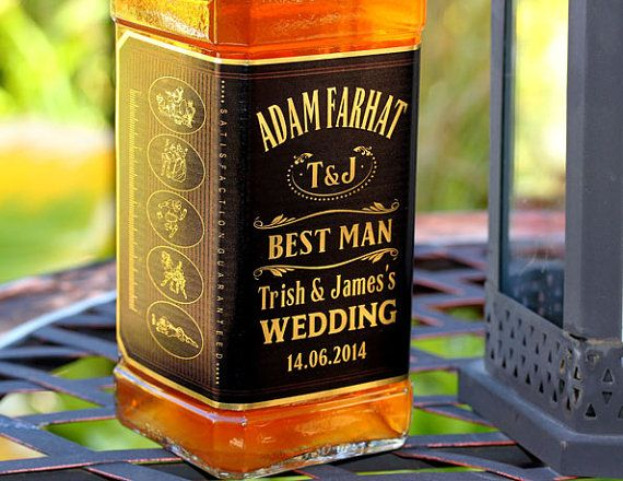 WEDDING BIRTHDAY PARTY PERSONALISED JAMESON WHISKEY BOTTLE LABEL 70CL
