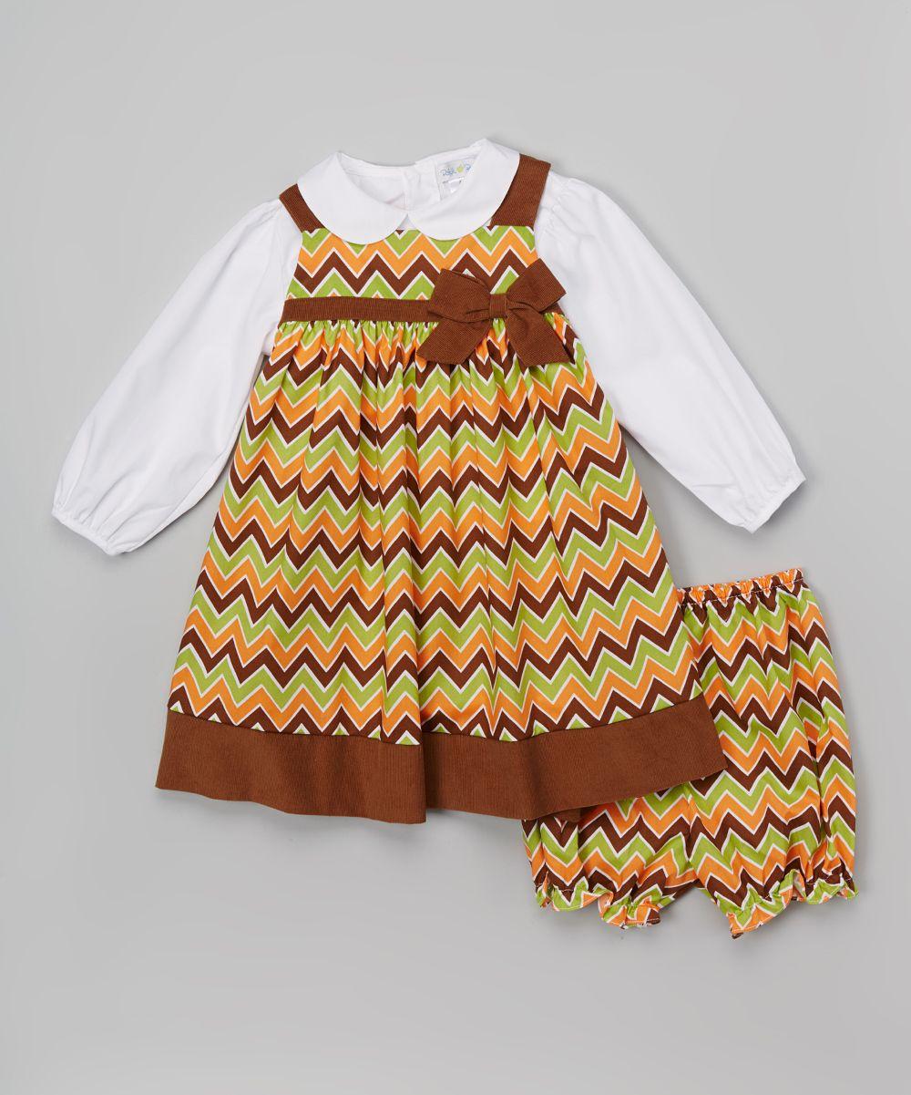 Brown Chevron Dress Set Infant Brown Chevron Chevron Dress