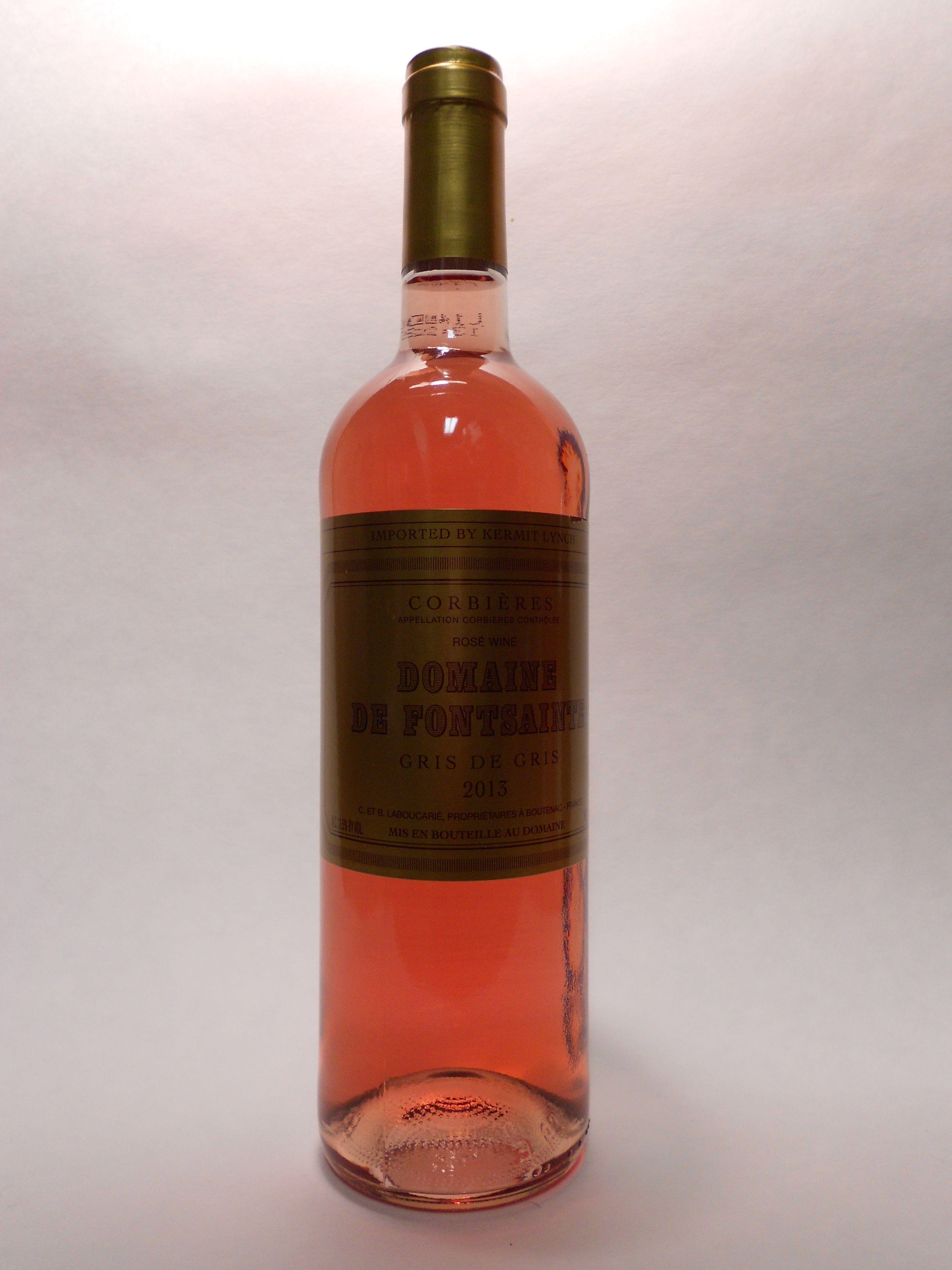 2013 Corbieres Gris De Gris Fontsainte Sku 61190 Www Bassins Com Phone 202 338 1433 Wine Bottle Rose Wine Bottle Wines
