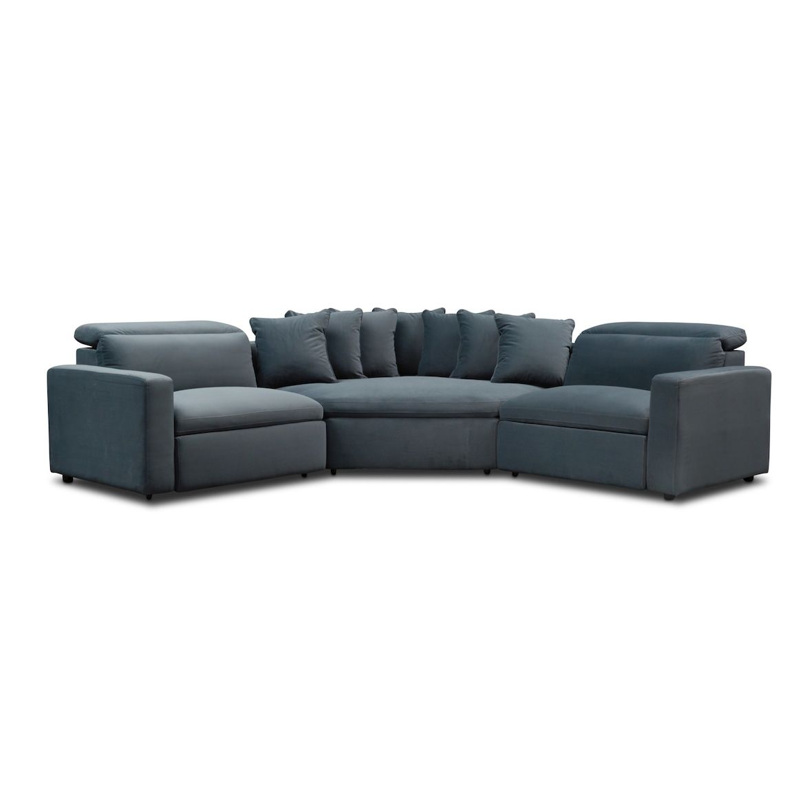 Best Happy 3 Piece Dual Power Reclining Sectional With 2 400 x 300